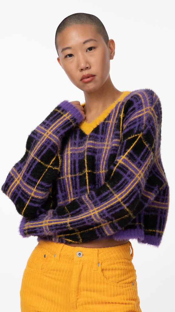 Ragged Priest - Checkered V-Neck | Clothing - Sweaters - Knits