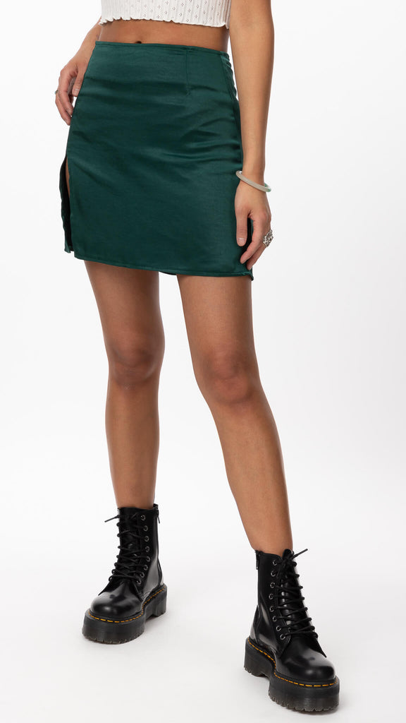 Motel - Green Shenka Skirt | Clothing - Bottoms - Skirts