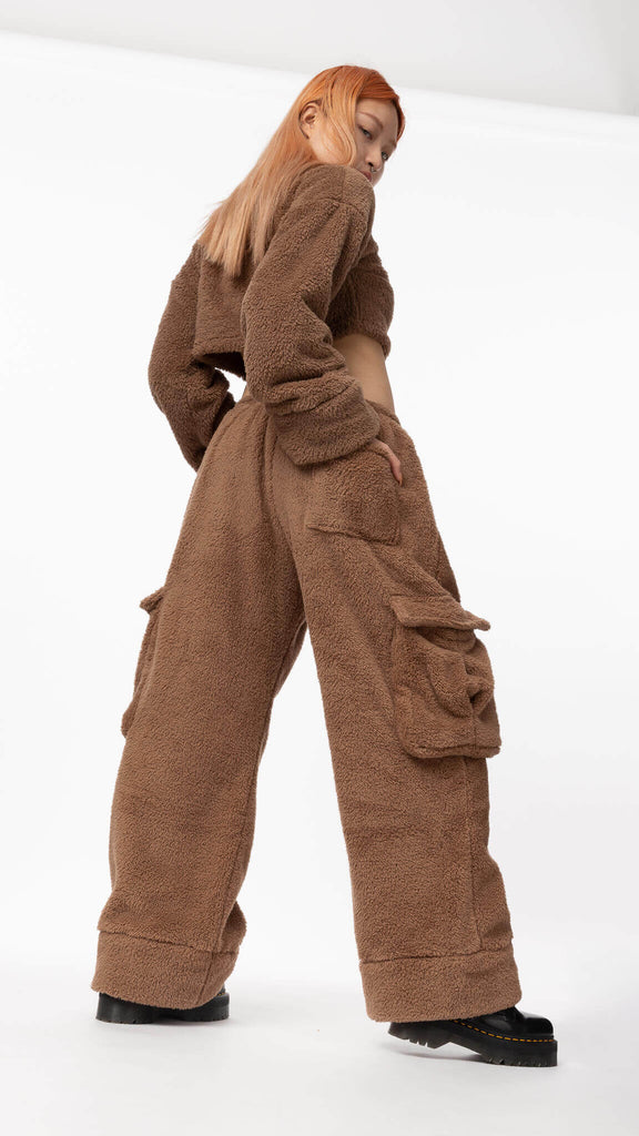 My Mum Made It - Double Fleece Wide Leg Pant | Clothing - Bottoms - Pants