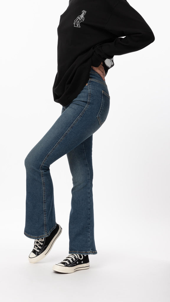 Dr. Denim - Blue Moxy Flare Jean | Clothing - Bottoms - Pants