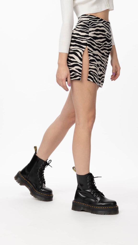 Motel - Huge Zebra Shenka Skirt | Clothing - Bottoms - Skirts