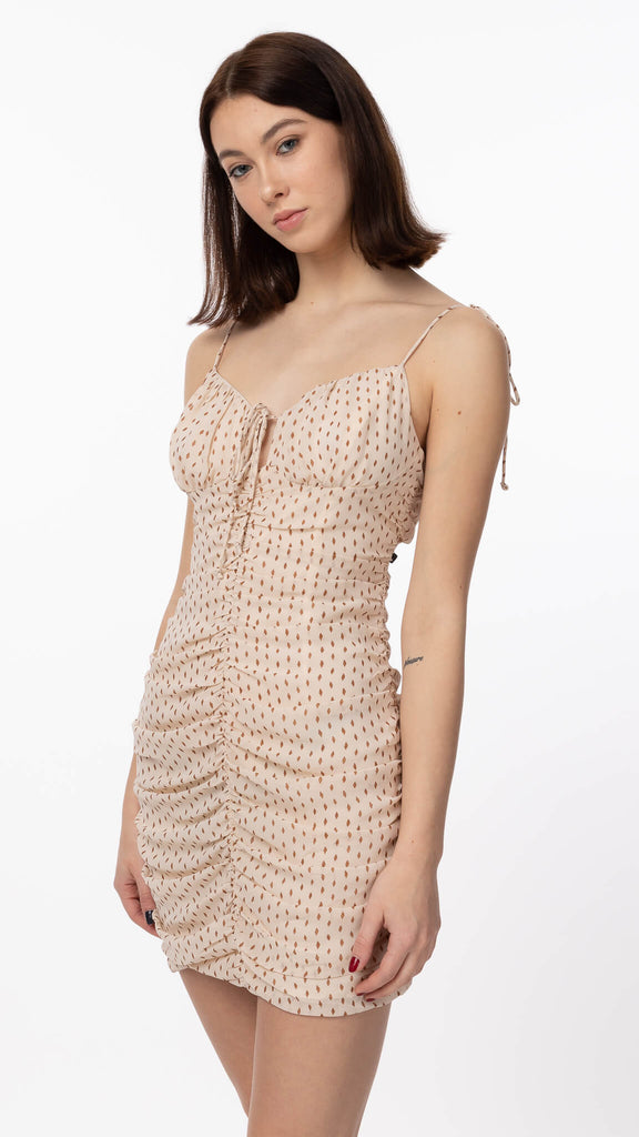 Sweet Dreams - Cream Polka Dot Dress | Clothing - Dresses