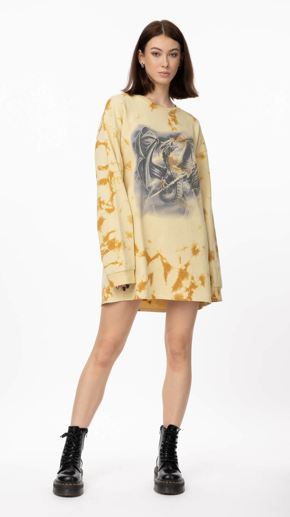 New Girl Order - Mystic Dragon Sweater | Clothing - Sweaters - Crew-necks