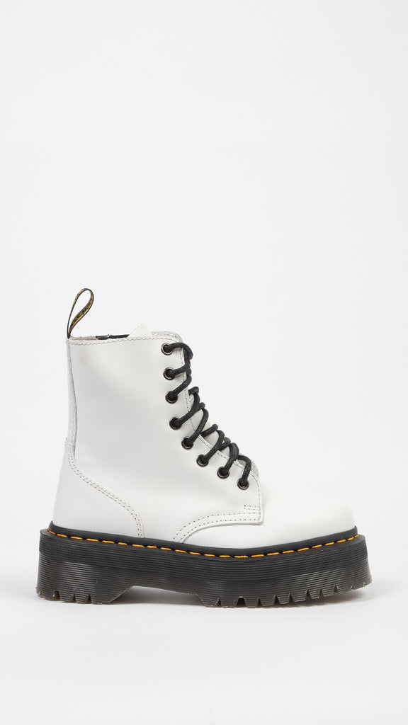 Dr. Martens - White Jadon Polished Smooth | Shoes - Boots