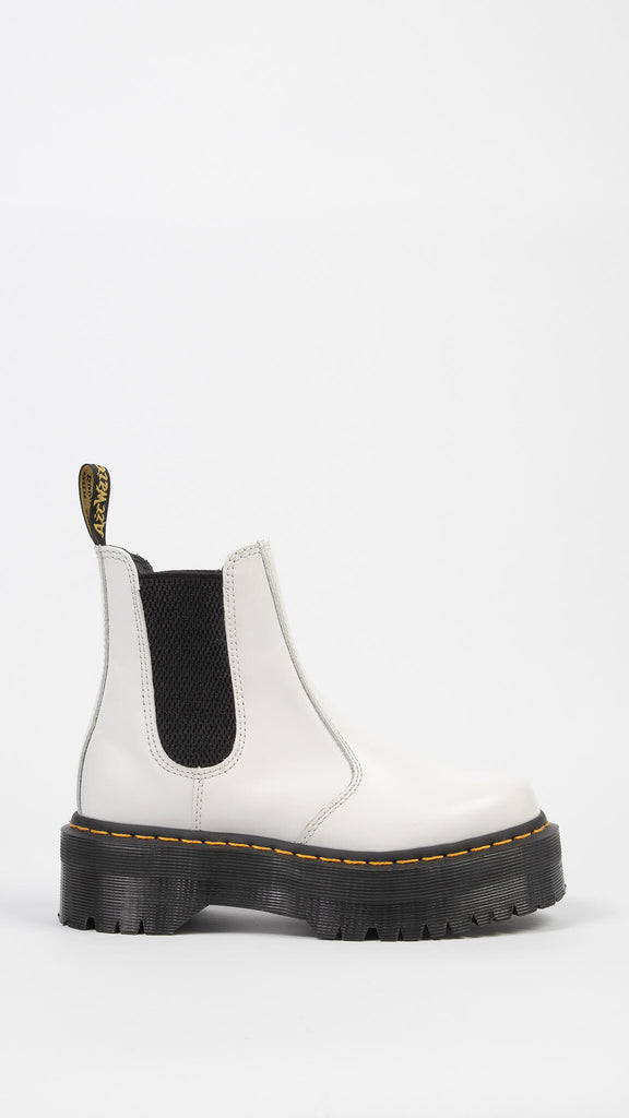 Dr. Martens - White 2976 Quad Polished Smooth | Shoes - Boots