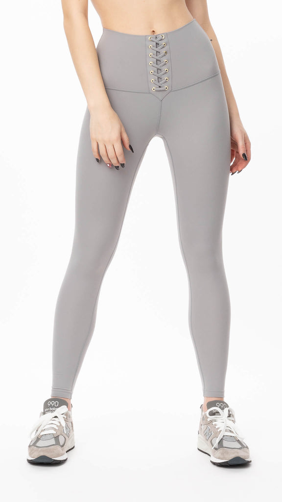 We Wore What - High Rise Lace Up Legging | Clothing - Bottoms - Leggings