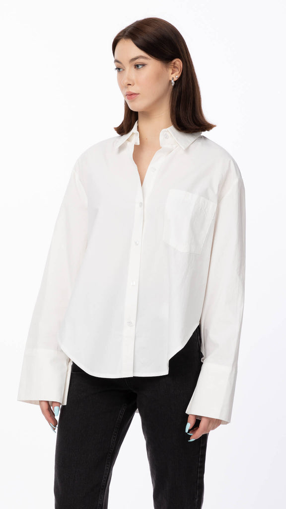 Botany Bay - White Classic Blouse | Clothing - Tops - Blouses