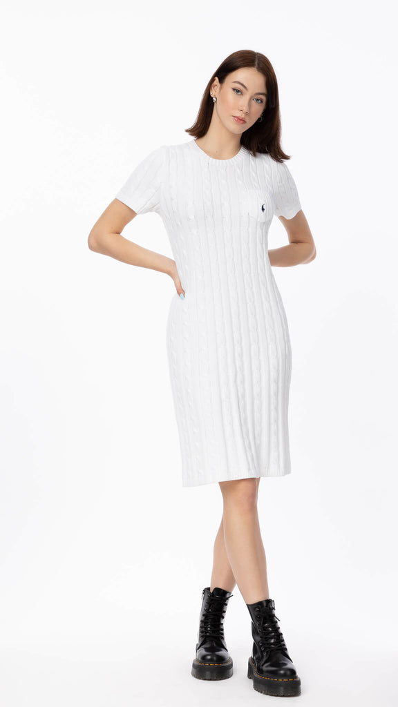 Polo Ralph Lauren - Cable Knit Sweater Dress | Clothing - Dresses