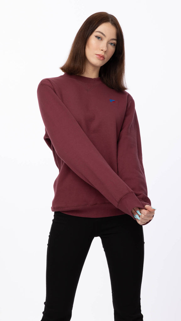 Russell Athletic - Burgundy Crewneck | Clothing - Sweaters - Crew-necks