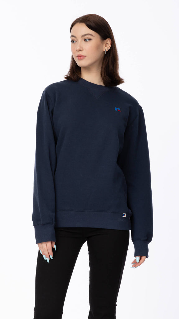 Russell Athletic - Navy Crewneck | Clothing - Sweaters - Crew-necks