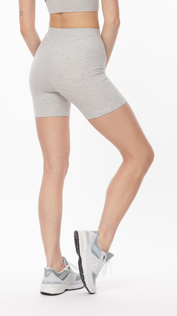 Joah Brown - Pearl Grey Mid-Length Short | Clothing - Bottoms - Shorts