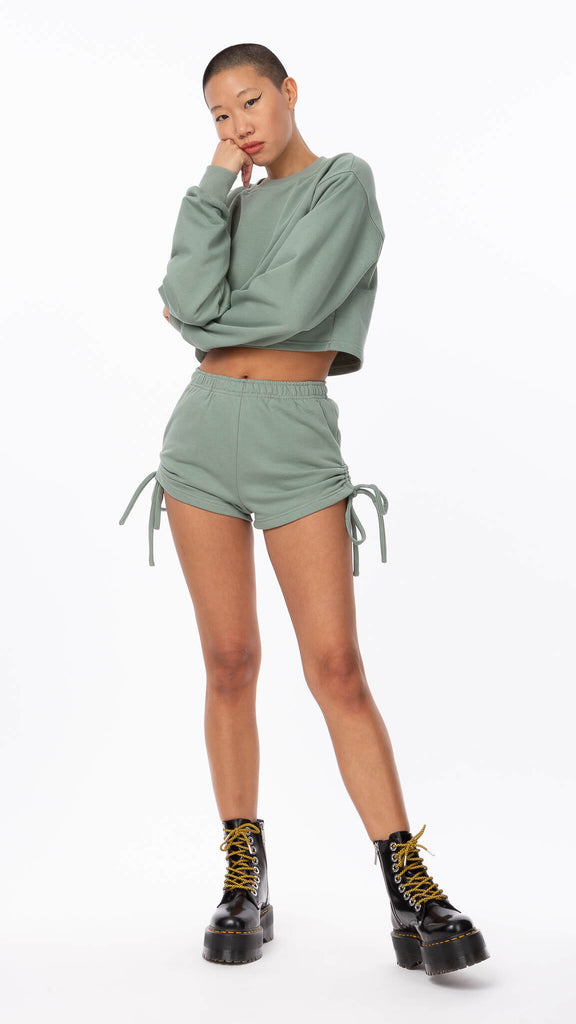 Sweet Dreams - Basil Ruched Short | Clothing - Bottoms - Shorts