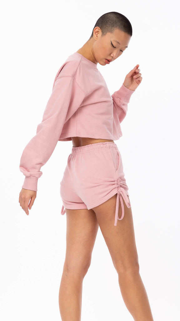 Sweet Dreams - Pink Ruched Short | Clothing - Bottoms - Shorts