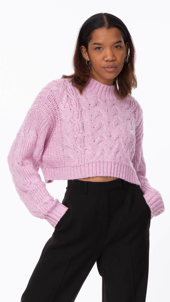 Sweet Dreams - Orchid Cropped Knit | Clothing - Sweaters - Knits
