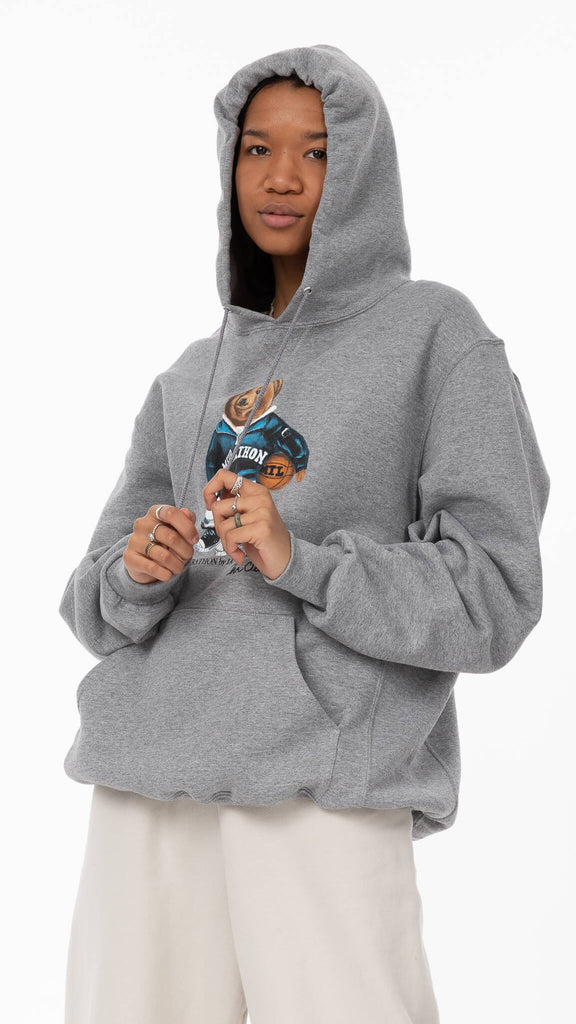 Grey Bearathon Pullover
