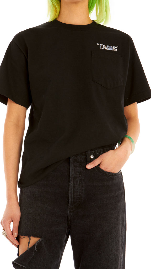 Pleasures - Black Balance EMB. Pocket Tee | Clothing - Tops - T-Shirts