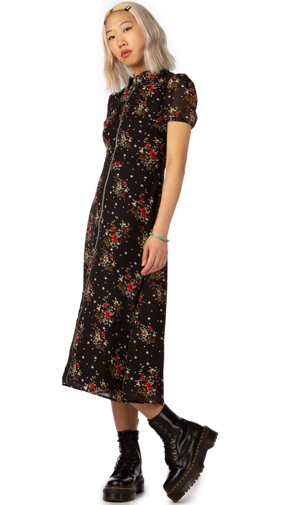 Daisy Street, Floral Midi Dress, Clothing - Dresses - Editorial Boutique