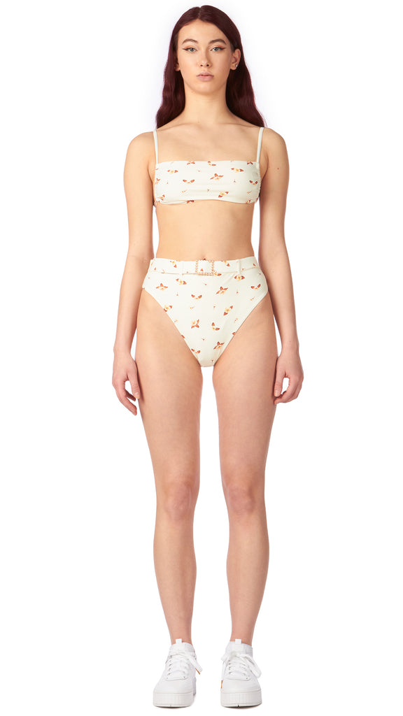We Wore What - Cream Emily Bottom | Clothing - Swimwear - Bikini Bottoms