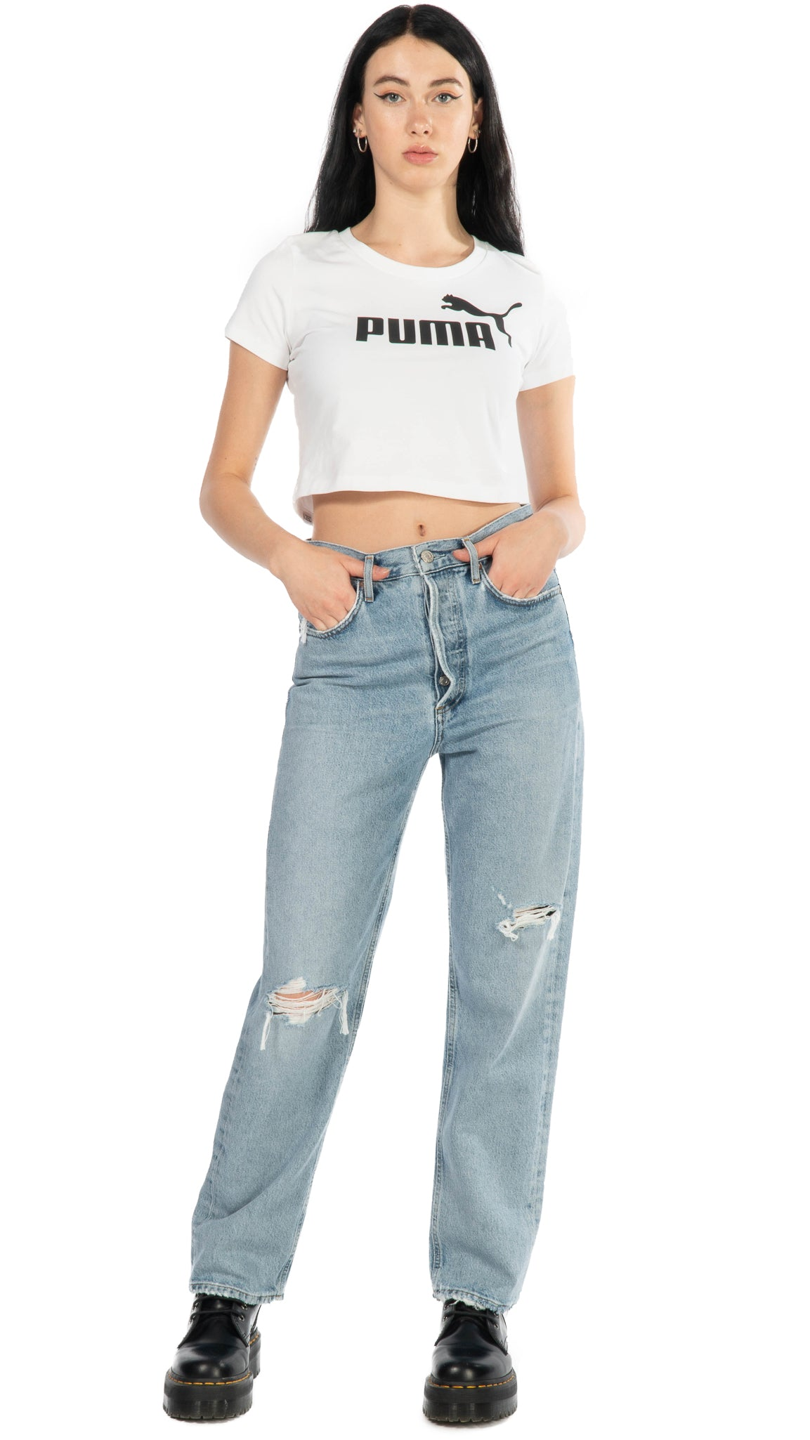 Puma, Fitted Tee, Clothing - Tops - Cropped - Editorial Boutique