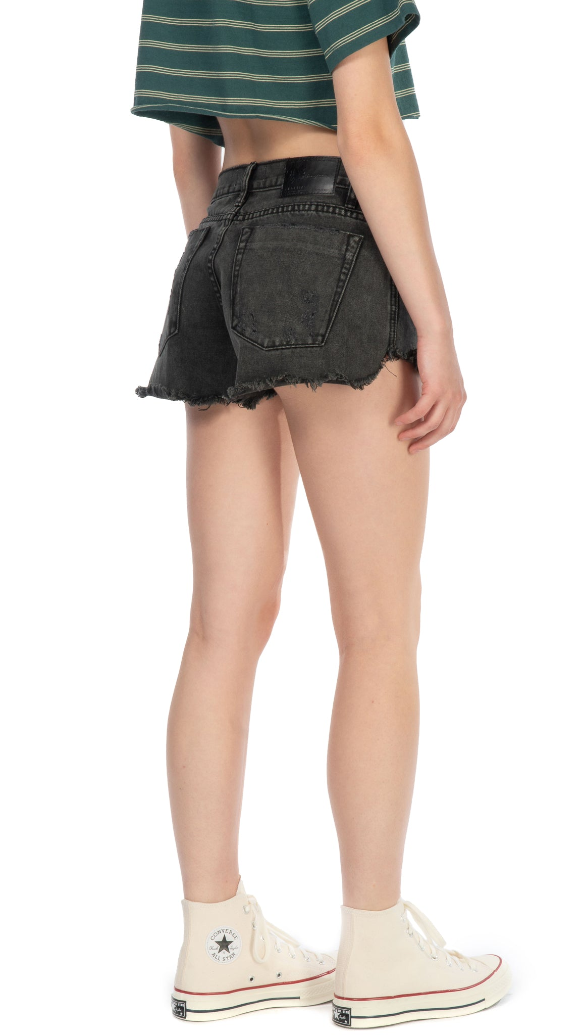 One Teaspoon, Coal Rollers Low Rise Distressed Denim Short, Clothing - Bottoms - Shorts - Editorial Boutique