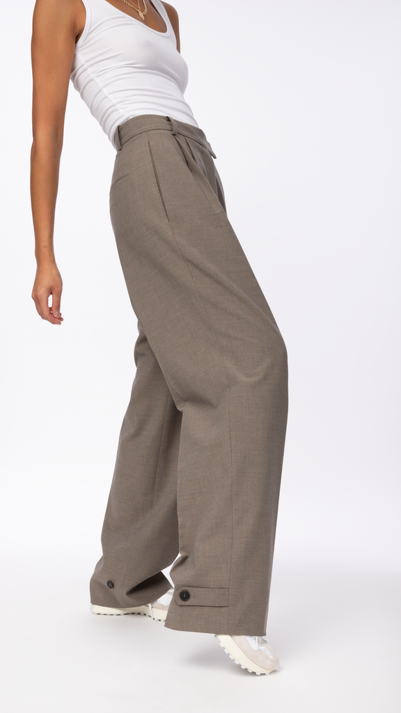 Byblos - Brown Len Strap Pant | Clothing - Bottoms - Trousers