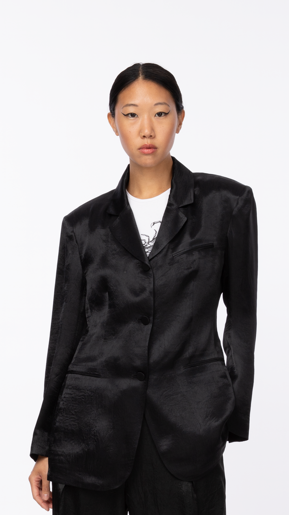 Byblos - Black Arc Button Jacket | Clothing - Jackets & Coats - Blazers