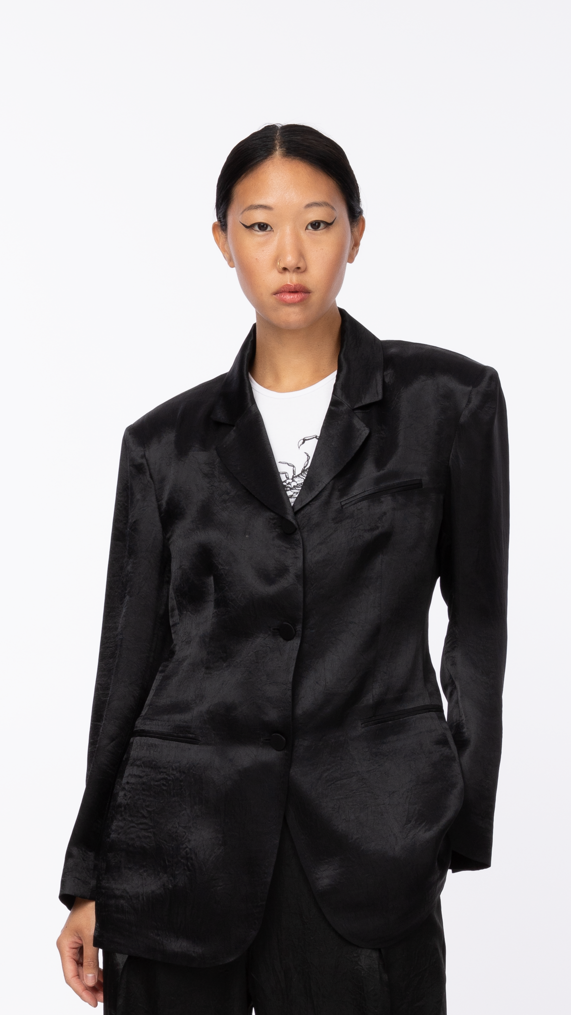 Byblos: Black Arc Button Jacket | Editorial Boutique