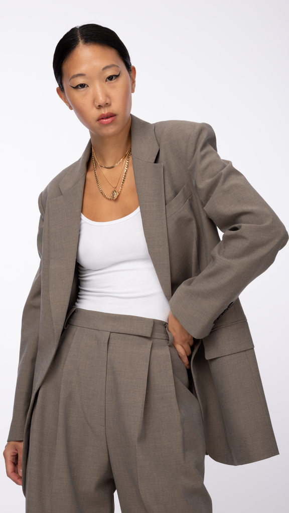 Byblos - Brown Len Two Button Jacket | Clothing - Jackets & Coats - Blazers