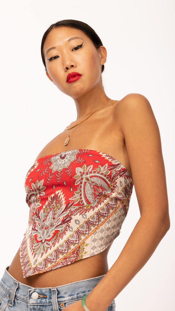 Sweet Dreams - Red Scarf Top | Clothing - Tops - Tanks