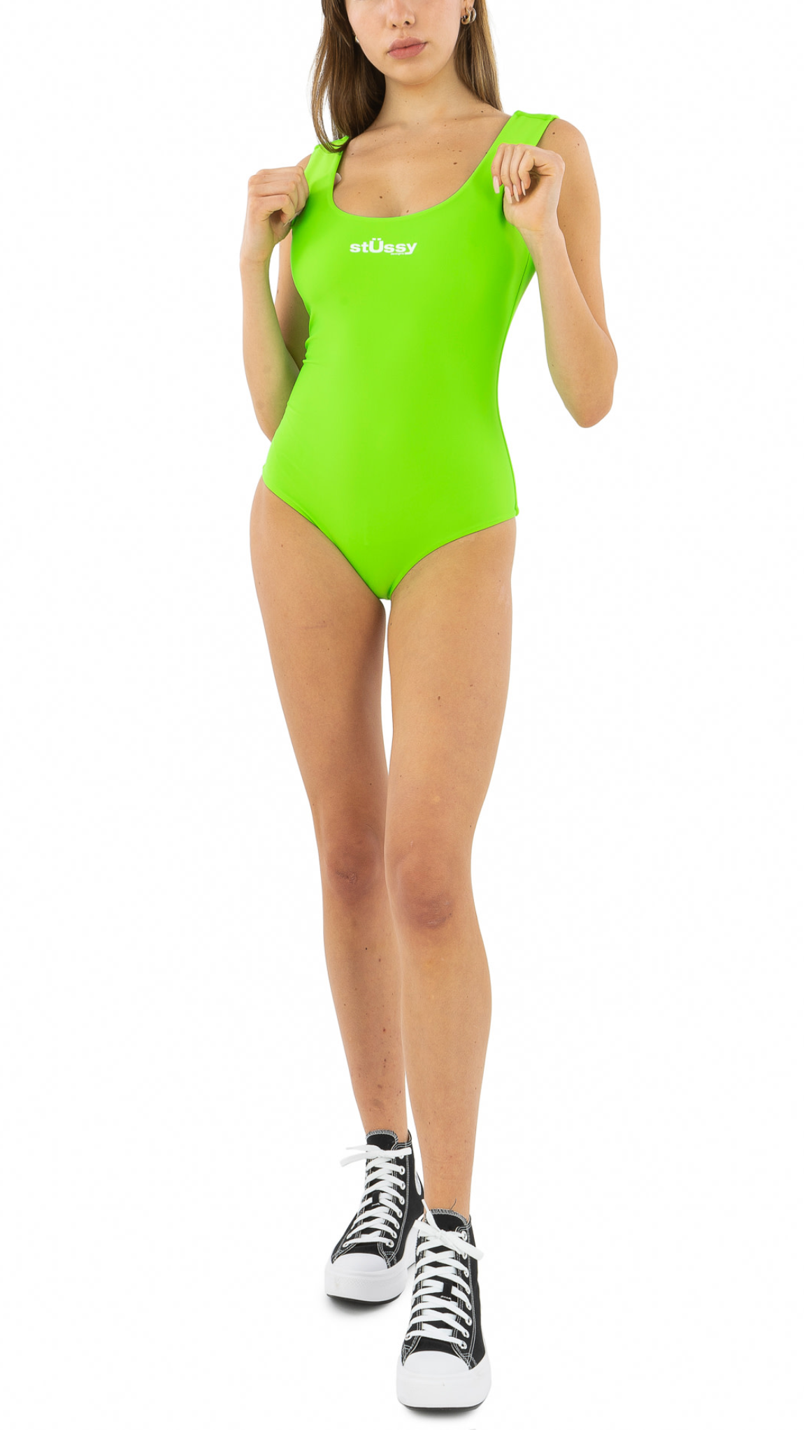 Neon Green Stussy Design One Piece Suit