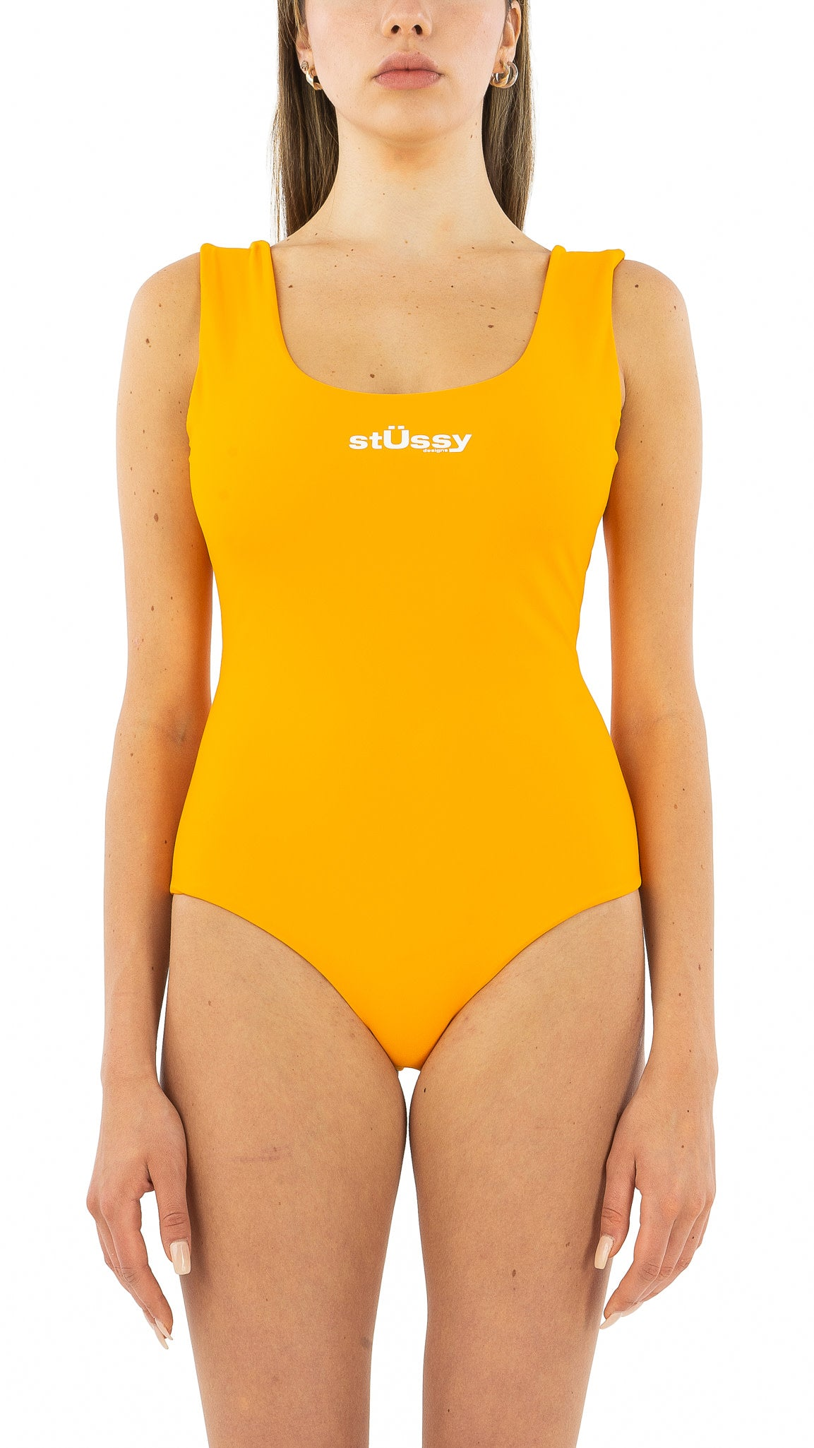 Tangerine Stussy Design One Piece Suit