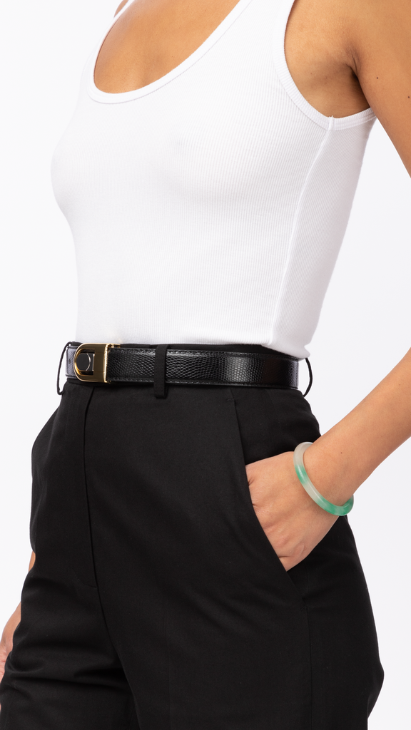 90's Belts - Black & Gold Belt | Accessories - Belts
