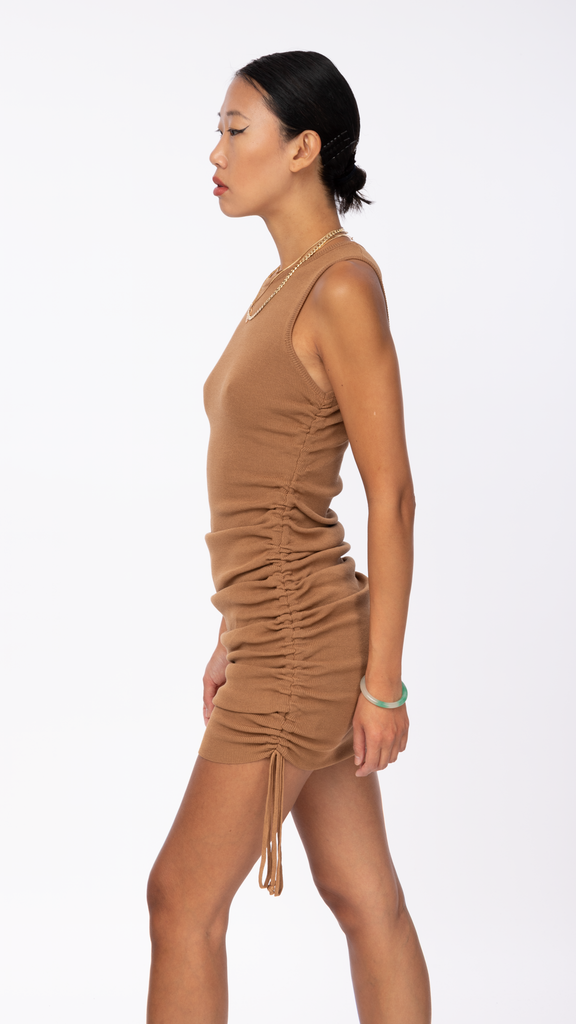 Lioness - Camel Military Minds Mini Dress | Clothing - Dresses