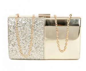 Half sparkle evening bag