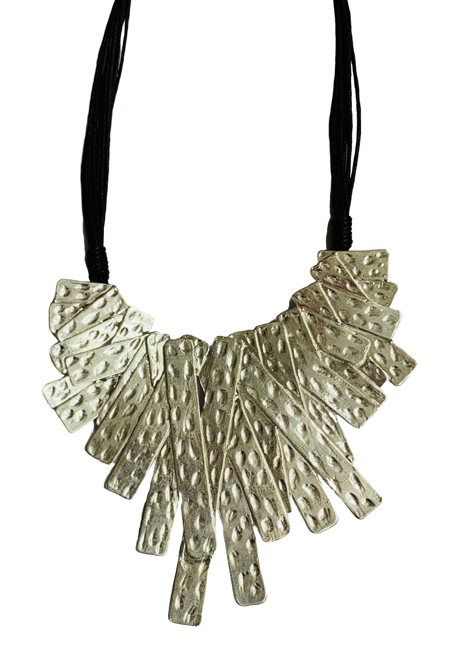 Hammered statement necklace