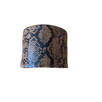 Load image into Gallery viewer, Orange snakeskin cuff