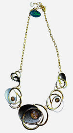Load image into Gallery viewer, Brown swirl necklace