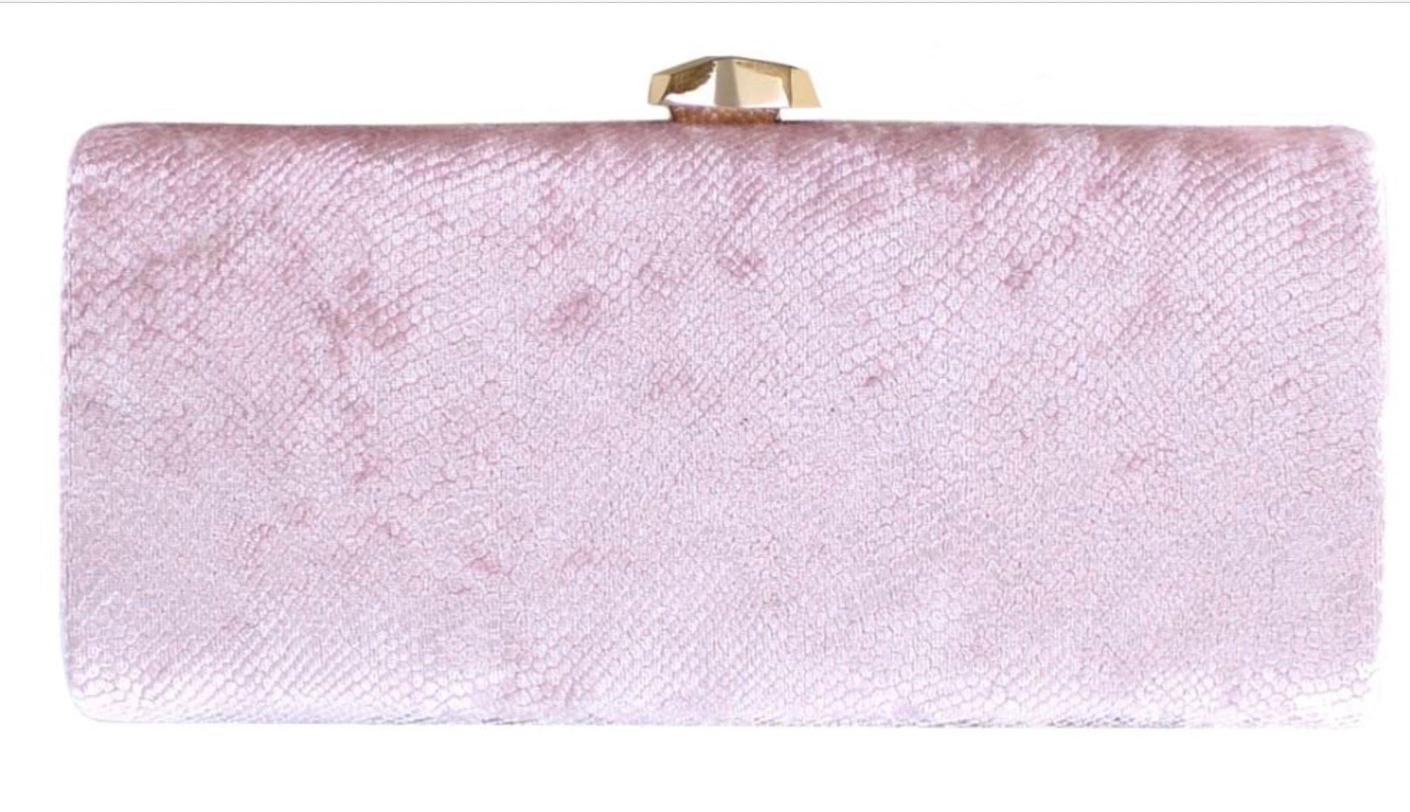 Velveteen evening bag