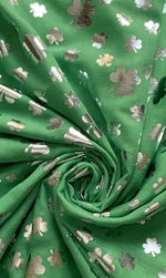 Load image into Gallery viewer, Foiled Shamrock/ Four Leaf Clover Scarf