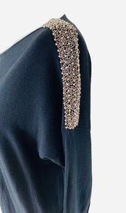 Studded shoulder jumper