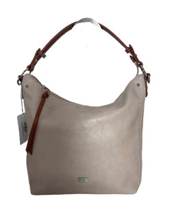 Tan handle shoulder bag