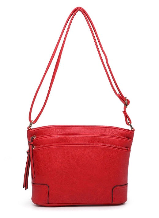 Side pocket shoulder bag