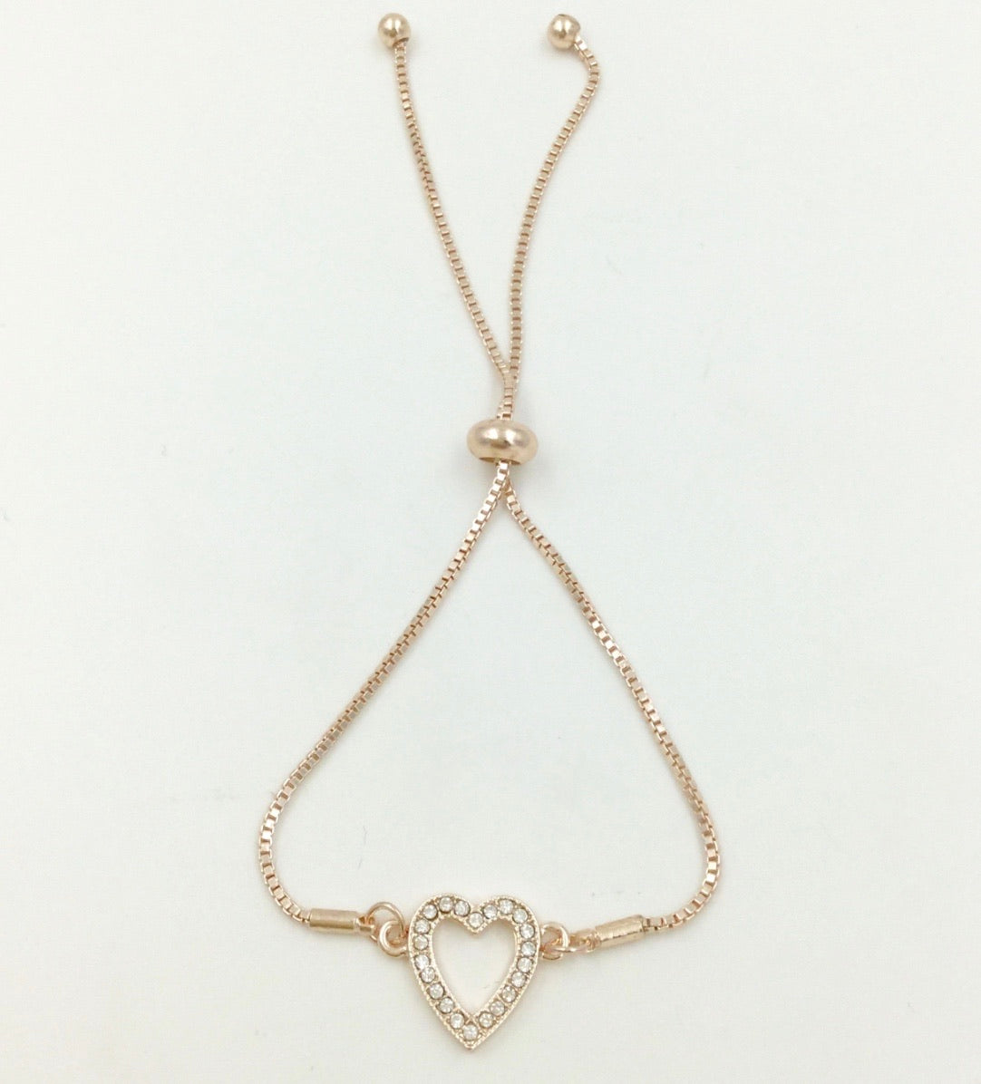 Diamanté heart bracelet