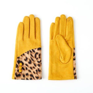 Leopard print mix glove