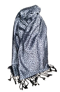 Animal print pashmina