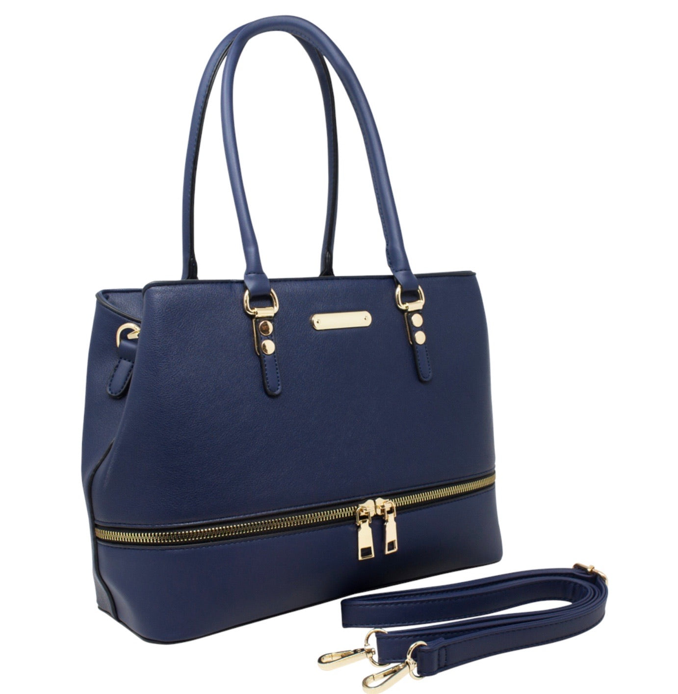 Zipped bottom handbag
