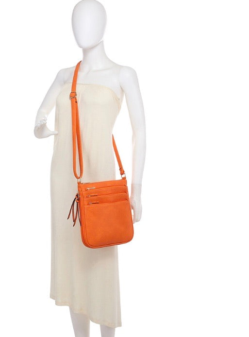 5 zip crossbody bag