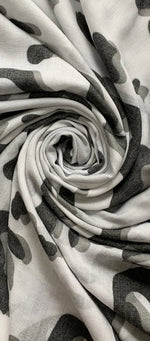 Load image into Gallery viewer, Swirl Leopard Print Frayed Scarf