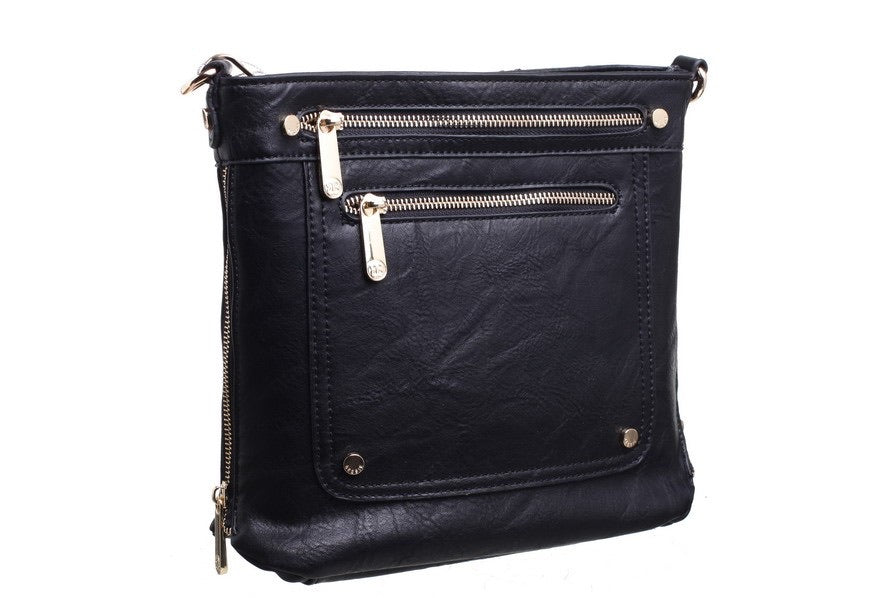 Multi zip crossbody bag
