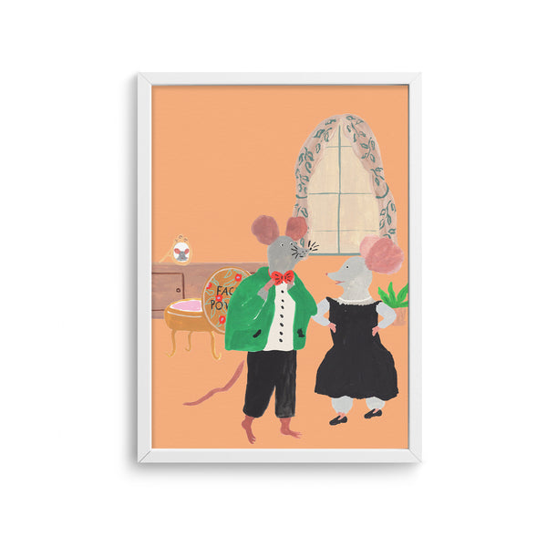 Mouse House Couple Poster